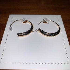 Stella & Dot Brass Dome Hoops